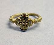 "Ring with Quatrefoil-shaped Bezel with ""Sri"" Inscription"