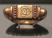 Stirrup-Shaped Ring with Rectangular Bezel