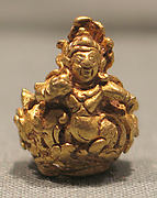 Rod Finial Clip with Vishnu on Garuda