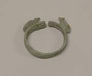 Wide Bracelet with Facing Animals(?)