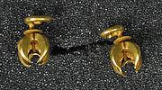 Pair of Earrings in Cruciform Shape