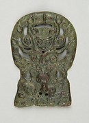 Belt Buckle with Lynx Attacking an Argali