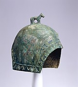 Helmet with a Standing Horse