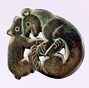 Garment Plaque with Leopard and Bear