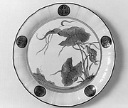Dish with Arum Leaves and Five Paulownia Crests