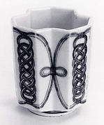 Polyhedral Cup with Decoration of Knotted Cord