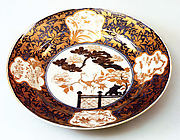 Plate with Decoration of Cranes and Pines