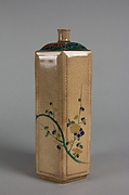 "Bottle Decorated with ""Three Friends"" Pine, Bamboo and Plum"