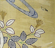 Piece from a Kosode with Flowers, Leaves, and Water