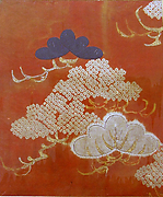 Piece from a Kosode with Pine Boughs