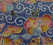 Textile with Peonies