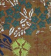 Textile with Autumn Grasses