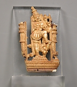 Openwork Panel Depicting a Door Guardian (Dvarapala)