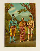 Rama, Sita, and Lakshmana in Exile: Scene from the Ramayama