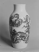 Vase with Village Scene