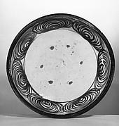 Ishizara Plate with Spiral Design