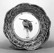Deep Dish with Egret Design