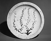 Ishizara Plate with Design of Flowering Tree