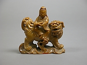 Manjushri Riding a Lion