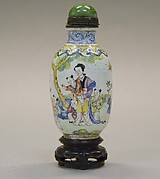 Snuff Bottle with Foreign Figures