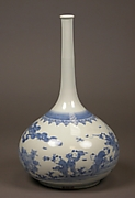 Long-Necked Bottle with Design of Chinese Children Playing Outdoors