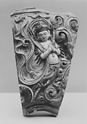 "Tile with Apsara, originally from the ""Porcelain Pagoda"""