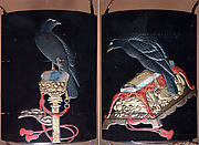 Case (Inrō) with Design of Hawk on Tasseled Perch