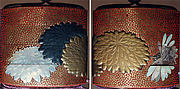 Case (Inrō) with Design of Large Chrysanthemum Blossoms