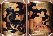 Case (Inrō) with Design of Herd Boy Wearing Hat beside Piebald Ox