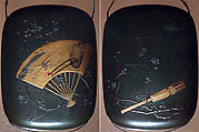 Case (Inrō) with Design of Fans and Plum Branch