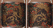 Case (Inrō) with Design of Baku (Mythical Animals) among Ruyi-Shaped Clouds