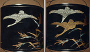 Case (Inrō) with Design of Geese and Reeds