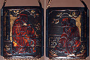 Case (Inrō) with Design of Chinese Sages Seated on Verandah