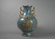 One of a Pair of Vases with Dragon Handles