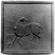 Ink Tablet with Black Stag Motif