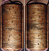 """Inrō with the """"Fifty-three Stations of the Tōkaidō"""""""