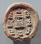 Plaque with a Mandala of the Eight Bodhisattvas
