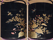 Case (Inrō) with Design of Wildflowers, Dragonflies and Bees