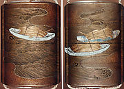 Case (Inrō) with Design of Sheaves of Rice in Boats