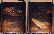 Case (Inrō) with Design of Two Men Pulling a Boat Filled with Rice Sheaves
