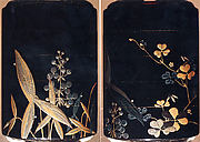 Case (Inrō) with Design of Arrowhead (Omodaka) (obverse); Clover (Mutsuba) (reverse)