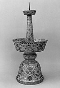 Candlestick from a Set Five-Piece Altar Set (Wugong)