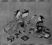 Three Girls Having Tea