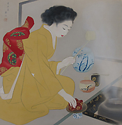 Girl Performing the Tea Ceremony