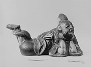 Alcove ornament in form of a man lying down