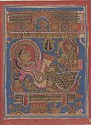 Mahavira's Birth ?; Page from a Dispersed Kalpa Sutra (Jain Book of Rituals)