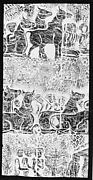 Rubbing of Scene of Animals and Shepherds in the Forest