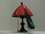Man's Summer Court Hat with Peacock Feather