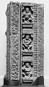 Doorframe with Three Ganas (Nature Deities) Dancing and Playing Instruments