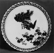 Dish with Phoenix and Flowering Branch Design